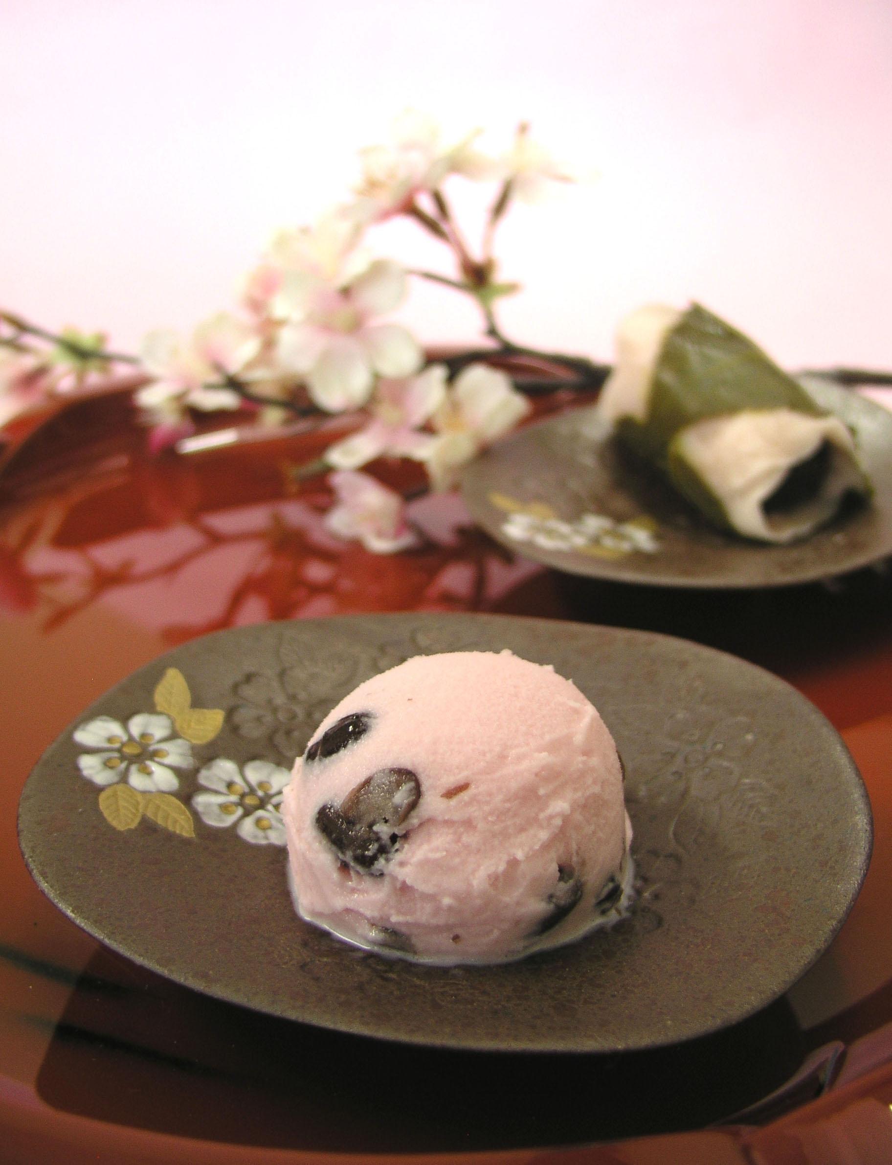 桜小豆アイスミルク